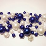 80-Jumbo-Assorted-Sizes-Royal-Blue-PearlsNavy-Blue-Pearls-and-White-Pearls-Vase-Fillers-NOT-INCLUDING-THE-TRANSPARENT-WATER-GELS-FOR-FLOATING-THE-PEARLS-SOLD-SEPARATELY-0