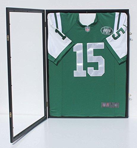 98-UV-Protection-Baseball-Football-Basketball-Soccer-Hockey-Jersey-Display-Case-Shadowbox-Wall-Mount-JC34-BL-0