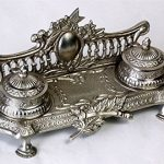 AA-Importing-51688-Double-Inkwell-Antique-Silver-Finish-0