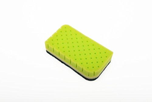 AISEN-KS302G-2-Count-Foam-and-Scrub-Sponges-12-Pack-Green-0-1