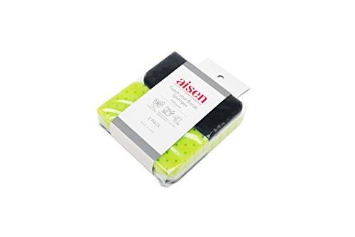 AISEN-KS302G-2-Count-Foam-and-Scrub-Sponges-12-Pack-Green-0