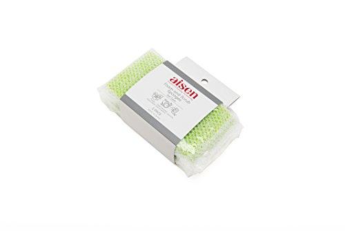 AISEN-KS303G-2-Count-Foam-and-Scrub-Sponges-12-Pack-Green-0-0