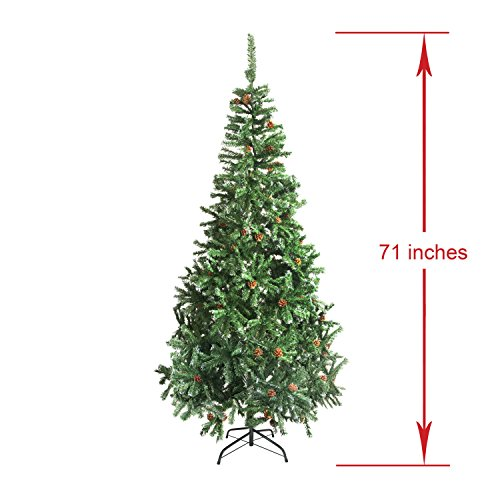 ALEKO-CTPC71H17-Luscious-6-Feet-Christmas-Tree-With-White-Tips-and-Decorative-Pine-Cones-Artificial-Holiday-Pine-Tree-Indoor-Holiday-Decor-0-1