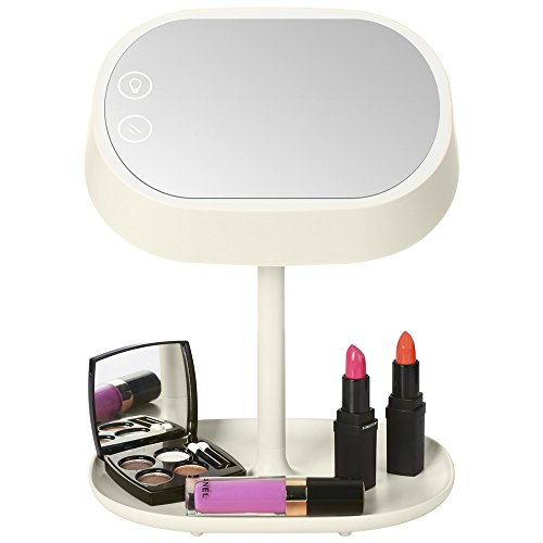 Accmart-2-in-1-Makeup-Mirror-Vanity-Mirror-with-LED-light-and-Table-Lamp-for-Bedroom-Bathroom-Travelling-with-USB-Cable-Adapter-not-included-0