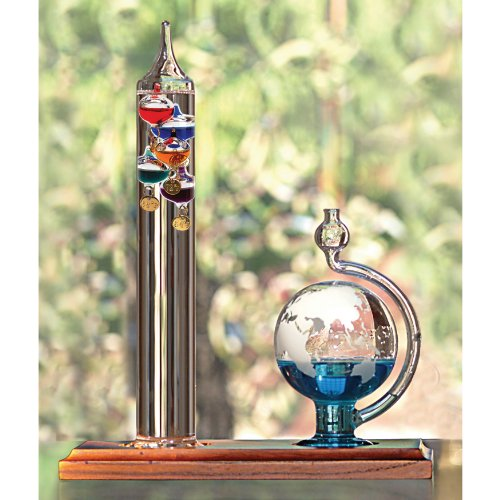 AcuRite-00795A2-Galileo-Thermometer-with-Glass-Globe-Barometer-0-1