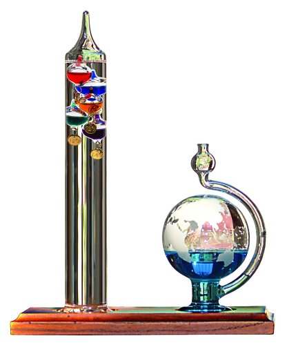 AcuRite-00795A2-Galileo-Thermometer-with-Glass-Globe-Barometer-0