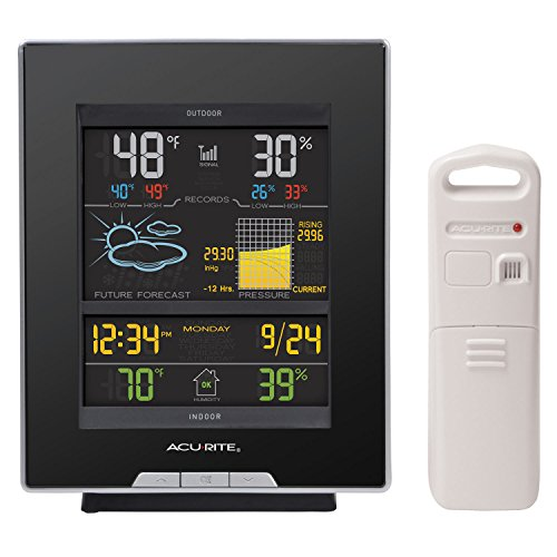 AcuRite-02008A1-Color-Weather-Station-with-Forecast-Temperature-Humidity-Barometric-Pressure-Intelli-Time-Clock-0