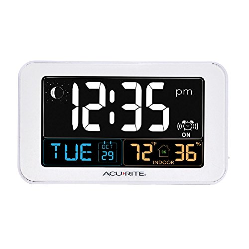 AcuRite-13040-Intelli-Time-Alarm-Clock-with-USB-Charger-Indoor-Temperature-and-Humidity-0