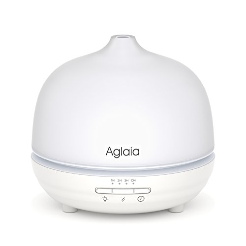 Aglaia-300ml-Essential-Oil-Diffuser-Glass-Cover-Ultrasonic-Humidifier-with-7-Color-LED-Lights-Changing-Time-Setting-and-Waterless-Auto-Shut-off-0