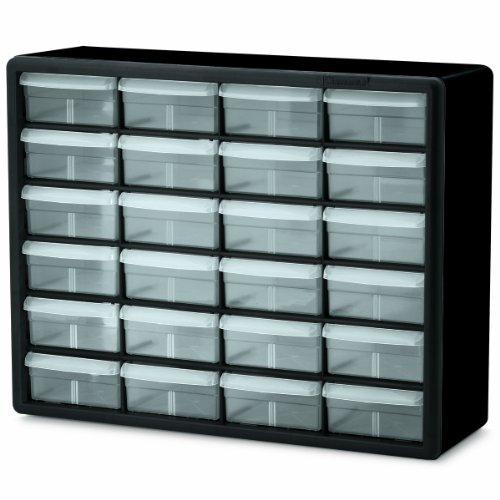 Akro-Mils-10124-24-Drawer-Plastic-Parts-Storage-Hardware-and-Craft-Cabinet-20-Inch-x-16-Inch-x-65-Inch-Black-0