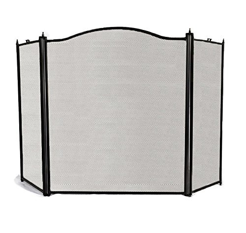 Amagabeli-3-Panel-Wrought-Iron-Fireplace-Screen-Baby-Safe-Proof-Outdoor-Large-Metal-Decorative-Fire-Place-Screen-Mesh-Fireplace-Safety-Gate-Fence-Curtain-Doors-Black-Cover-by-Grate-Holders-Accessories-0