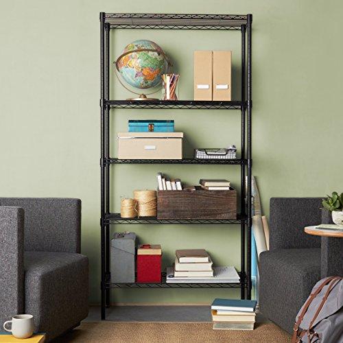 AmazonBasics-5-Shelf-Shelving-Unit-Black-0-0