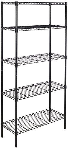 AmazonBasics-5-Shelf-Shelving-Unit-Black-0
