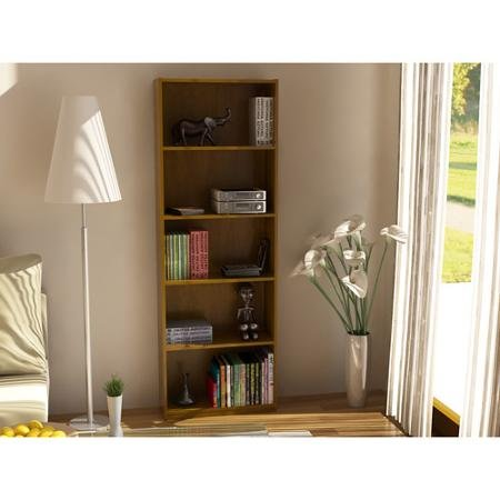 Ameriwood-Set-of-2-Bundle-5-shelf-Bookcases-Choice-of-White-Black-Espresso-Ruby-Red-and-Alder-Adjustable-Shelves-Decorative-and-Contemporary-Harmonizes-Well-with-Most-Decor-Styles-Use-in-Living-Room-F-0-0
