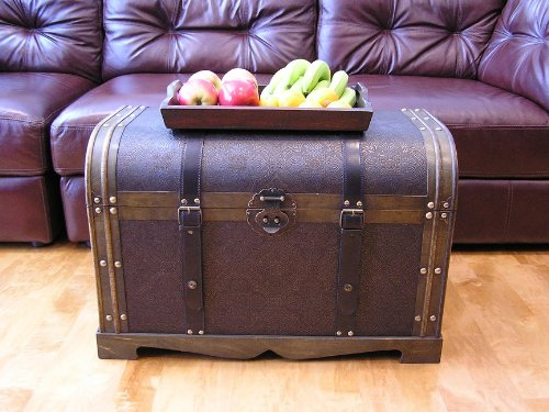 Antique-Victorian-Wood-Trunk-Wooden-Treasure-Hope-Chest-0