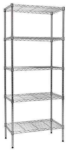 Apollo-Hardware-Chrome-5-Shelf-Wire-Shelving-14x24x60-0