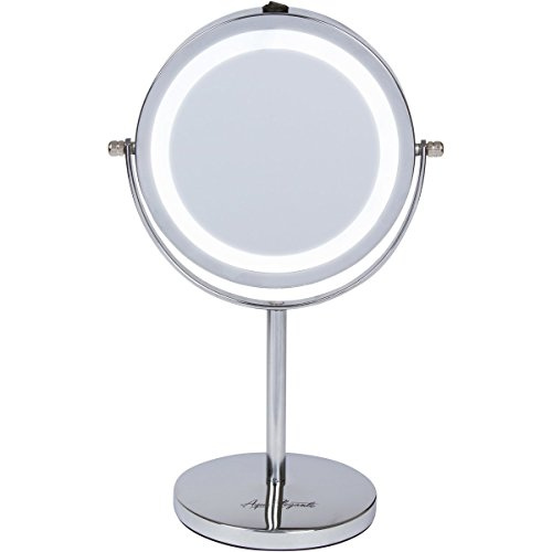 Aqua-Elegante-6-Inch-LED-Makeup-Mirror-Double-Sided-Lighted-10x1x-Magnification-0
