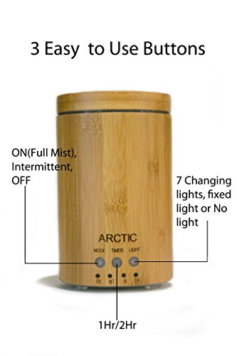 Arctic-Bamboo-Essential-Oil-DiffuserCool-Mist-Ultrasonic-Humidifier-with-2-Pure-Aromatherapy-Oils7-Color-LED-Lights-Auto-Shut-OffFragrance-VaporizerGreat-for-Home-Office-Spa-Massage-Centers-0-1