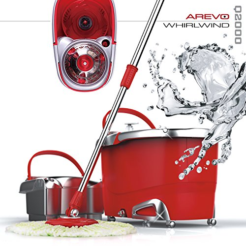 Arevo-Whirlwind-Wet-Spin-Mop-and-Rolling-Bucket-for-Floor-Cleaning-Easy-Wring-System-Soap-Dispenser-Washable-Microfiber-Cloth-Broom-and-Caster-Wheels-0