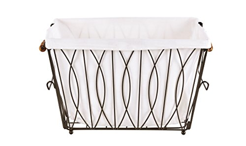 Artesa-Verona-Collapsible-Metal-Laundry-Cart-with-Removable-Basket-Canvas-Bag-0-1