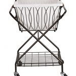 Artesa-Verona-Collapsible-Metal-Laundry-Cart-with-Removable-Basket-Canvas-Bag-0