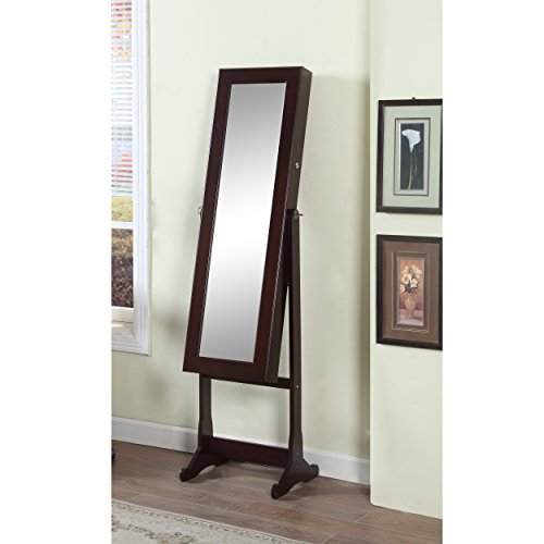 Artiva-USA-Espresso-Wood-Finish-Free-Standing-Cheval-Mirror-and-Jewelry-Armoire-Display-with-LED-Light-and-Key-Lock-Organize-Accessory-Beautiful-Functional-Home-Decor-Solid-Construction-Jewelry-Holder-0-1