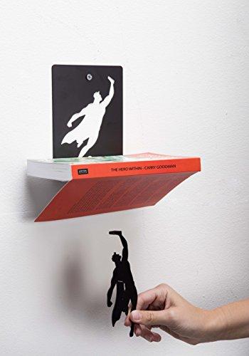 Artori-Design-Supershelf-Black-Metal-Superhero-Floating-Book-Shelf-Unique-Bookshelvs-Gifts-for-Geeks-Gifts-for-Book-Lovers-Cool-Book-Stacker-0-1