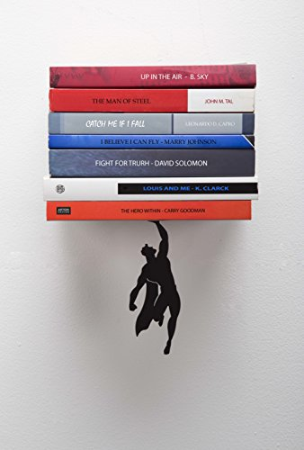 Artori-Design-Supershelf-Black-Metal-Superhero-Floating-Book-Shelf-Unique-Bookshelvs-Gifts-for-Geeks-Gifts-for-Book-Lovers-Cool-Book-Stacker-0
