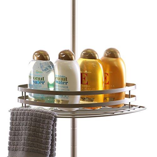 BINO-Tension-Pole-Corner-Shower-Caddy-Nickel-0-0
