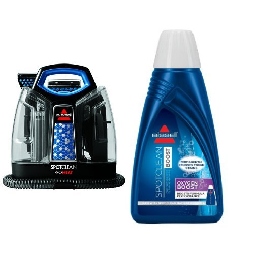 BISSELL-SpotClean-ProHeat-Portable-Spot-Cleaner-5207F-and-BISSELL-OXYgen-BOOST-Portable-Machine-Formula-32-ounces-0801-Bundle-0