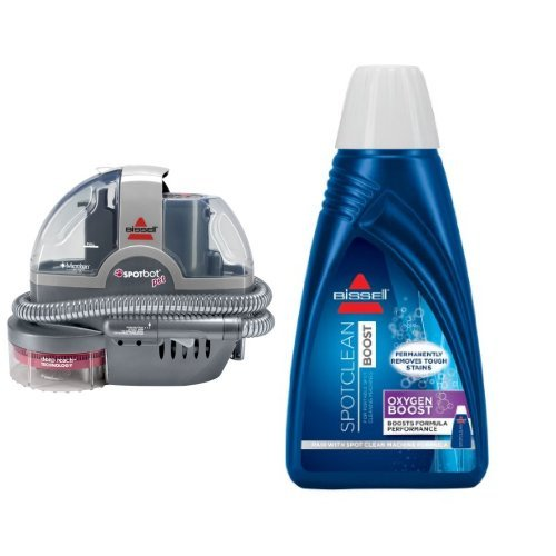 BISSELL-Spotbot-Pet-Handsfree-Spot-and-Stain-Cleaner-with-Deep-Reach-Technology-33N8A-Corded-and-BISSELL-OXYgen-BOOST-Portable-Machine-Formula-32-ounces-0801-Bundle-0