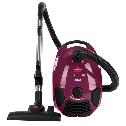 BISSELL-Zing-Bagged-Canister-Vacuum-Purple-4122-Corded-0