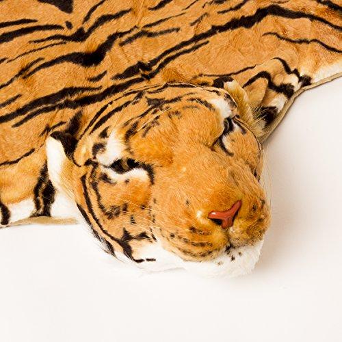 BRUBAKER-Huge-Brown-Tiger-Rug-78×47-Inch-0-0