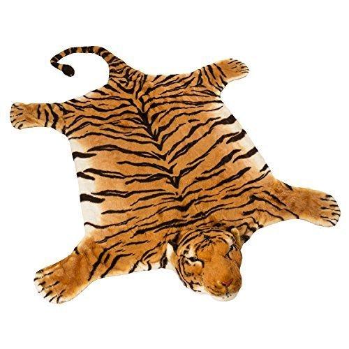 BRUBAKER-Huge-Brown-Tiger-Rug-78×47-Inch-0