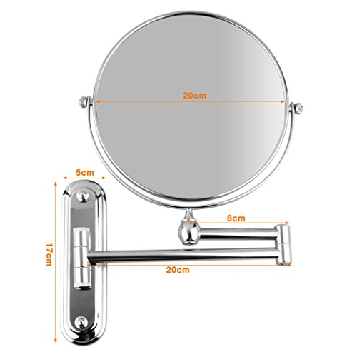 BTSKY-Double-Sided-Chrome-Wall-Mounted-Mirror-8-Inches-Cosmetic-Make-Up-Shaving-Bathroom-Mirror-0-1