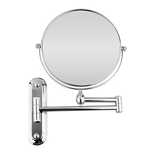 BTSKY-Double-Sided-Chrome-Wall-Mounted-Mirror-8-Inches-Cosmetic-Make-Up-Shaving-Bathroom-Mirror-0