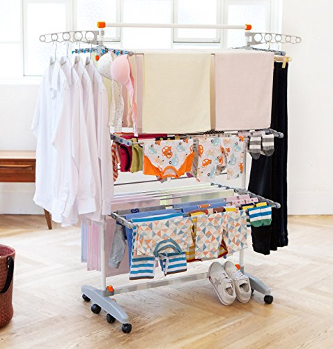Badoogi-BDP-V12-Foldable-Heavy-Duty-and-Compact-Storage-Drying-Rack-System-Premium-Size-0-0