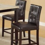 Bar-Stools-Counter-Height-Espresso-Faux-Leather-Set-of-2-Parson-Counter-Height-Chairs-0
