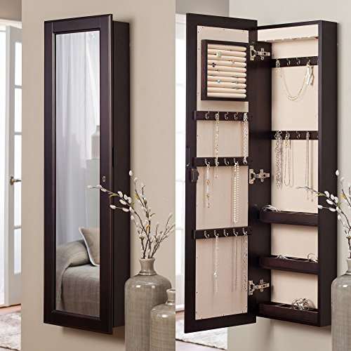 Belham-Living-Lighted-Wall-Mount-Locking-Jewelry-Armoire-Espresso-145W-x-50H-in-0
