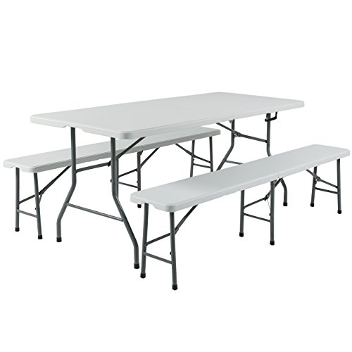 Best-Choice-Products-3pc-Portable-6-Folding-Table-and-Bench-Set-Combo-Resin-0