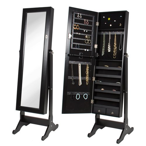 Best-Choice-Products-Mirrored-Jewelry-Cabinet-Armoire-Black-0