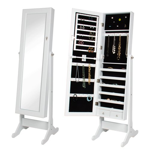 Best-Choice-Products-Mirrored-Jewelry-Cabinet-Armoire-with-Stand-White-0
