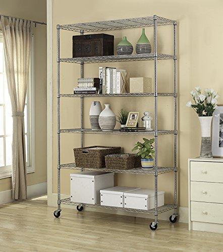BestOffice-6-Tier-Adjustable-Wire-Metal-Shelving-Rack-82x48x18-Inch-Black-0-0