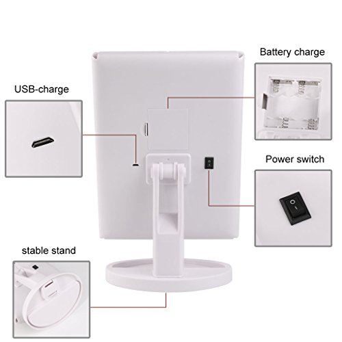 Big-House-Trifold-LED-lighted-Makeup-Mirror-Foldable-Portable-Travel-Electric-Chargeable-HD-Vanity-Mirror-with-Lights-White-0-1