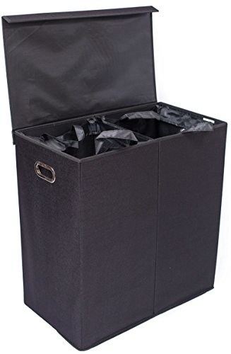 BirdRock-Home-Laundry-Hamper-with-Lid-and-Removable-Liners-0