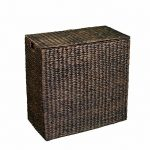 BirdRock-Home-Water-Hyacinth-Laundry-Hamper-with-Divided-Interior-and-Removable-Cotton-Liners-0-0