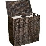 BirdRock-Home-Water-Hyacinth-Laundry-Hamper-with-Divided-Interior-and-Removable-Cotton-Liners-0