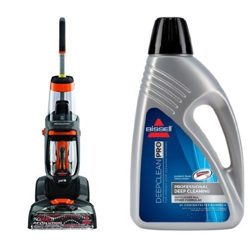 Bissell-1548-ProHeat-2X-Revolution-Pet-Full-Size-Carpet-Cleaner-and-Bissell-78H6B-Deep-Clean-Pro-2X-Deep-Cleaning-Concentrated-Formula-48-ounces-Bundle-0