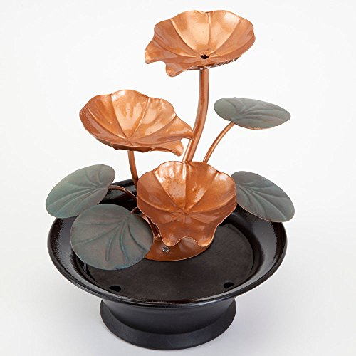 Bits-and-Pieces-Indoor-Water-Lily-Water-Fountain-Small-Size-Makes-This-A-Perfect-Tabletop-Decoration-Compact-and-Lightweight-0-1