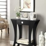 Black-Finish-Console-Sofa-Entry-Table-with-Drawer-by-eHomeProducts-0